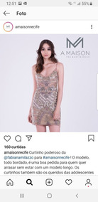 abab03eb2 Vestido Fabiana Milazzo - Vestidos Femininas no Mercado Livre Brasil