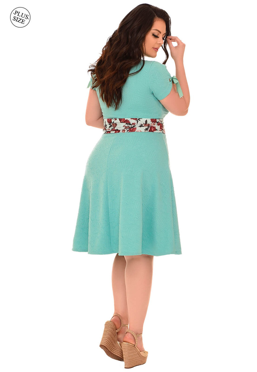 a95f1df0ff vestido curto fascinius danielle verde moda evangélica. Carregando zoom.