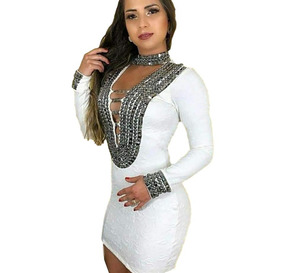 32e6a98e600d Vestido Sexy Balada Festa Piriguete Curto Preto Panicat - Vestidos ...