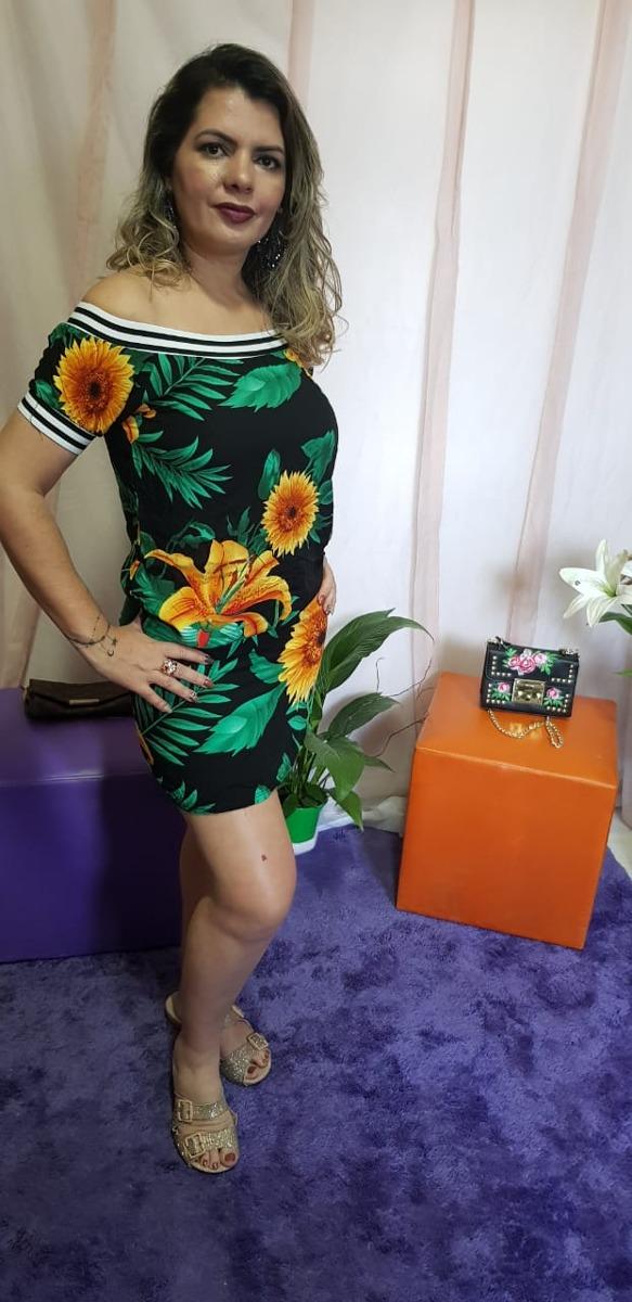 c1de1fd487 Carregando zoom... curto feminino vestido. Carregando zoom... vestido curto  feminino soltinho viscose estampado verão flor