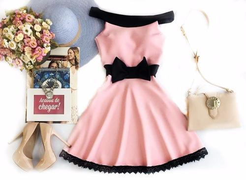 vestido curto feminino de laço princesa amo festa bojo