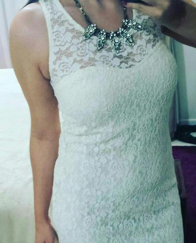 vestido curto festa branco de renda moda outono inverno 2018