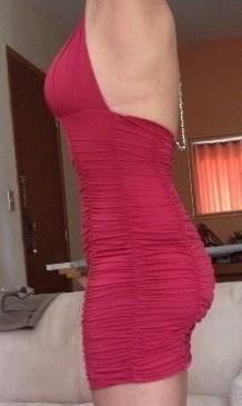 vestido curto lycra