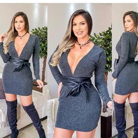 a6a4f94c7 Vestidos Em Tecido Lurex no Mercado Livre Brasil