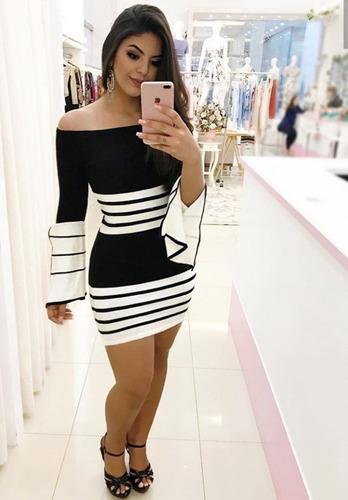 vestido curto manga longa flare festas tendência vtmf01