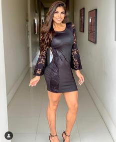 fc4358c0fa Vestido Cirre Manga Longa - Vestidos Femininas no Mercado Livre Brasil