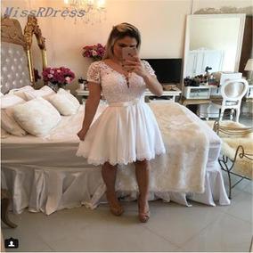 Vestido Da Barbara Melo Curto Branco Vestidos Femeninos