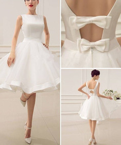 Vestido Curto Noiva Casamento Civil Festa Fli 92