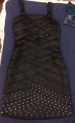 vestido curto, preto, hbf (handbook fashion), tam 38