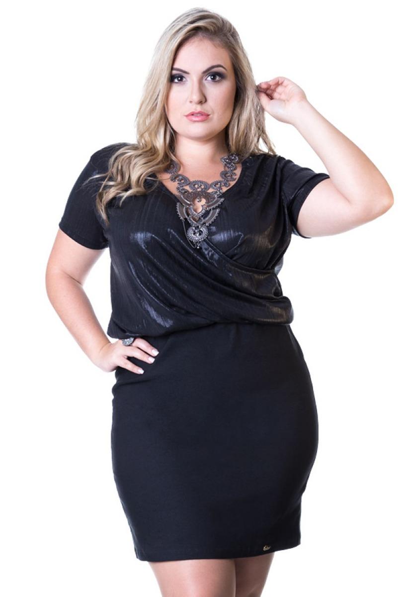 ecc153555032 vestido curto preto moda festa plus size até o 64 balada. Carregando zoom.