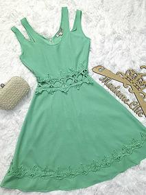 08e23c978 Vestido De Crepe Com Renda Verde - Vestidos no Mercado Livre Brasil