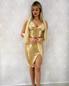 Tecido Voal Dourado Vestidos Dourado Curto Com O Melhores