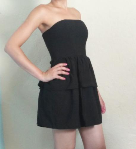 vestido curto tomara que caia com babado