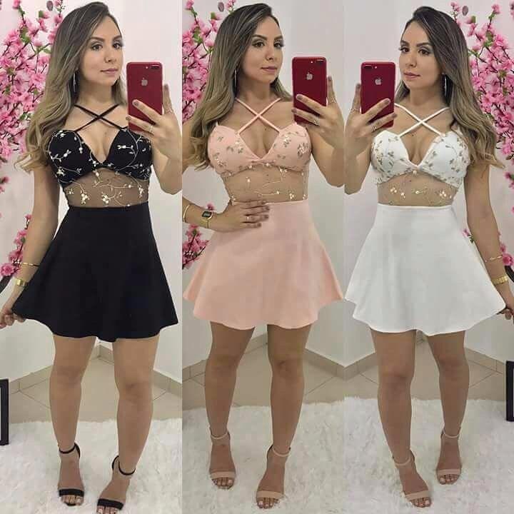43da90d559 Vestido Curto Tule Renda Bordado Modelo 2019 - R  70