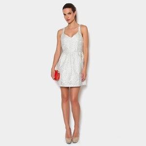 vestido d coctel cocktail blanco yvory novia corto noche