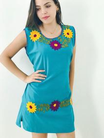 comprar popular 29f92 da98a Vestidos Bordados A Mano En Oaxaca - Vestidos Casual Azul ...