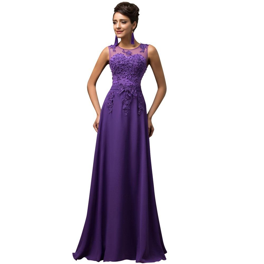 Vestido Dama De Honor Largo Sin Mangas - $ 3,136.00 en Mercado Libre