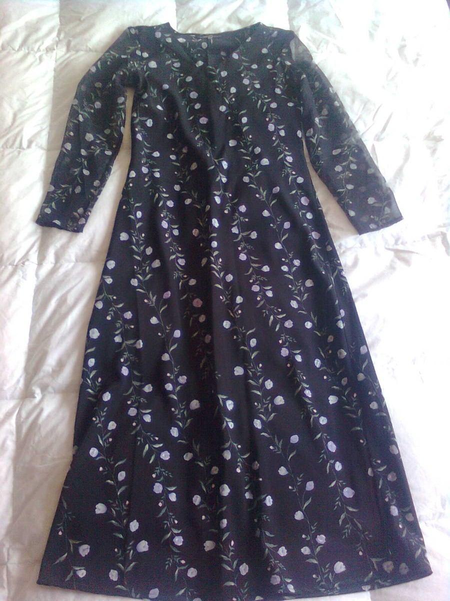 Vestido Dama En Polyester Negro Talla M - $ 199.00 en Mercado Libre