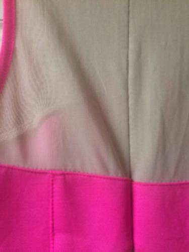 vestido dama forever 21 fucsia con transparencias graduacion