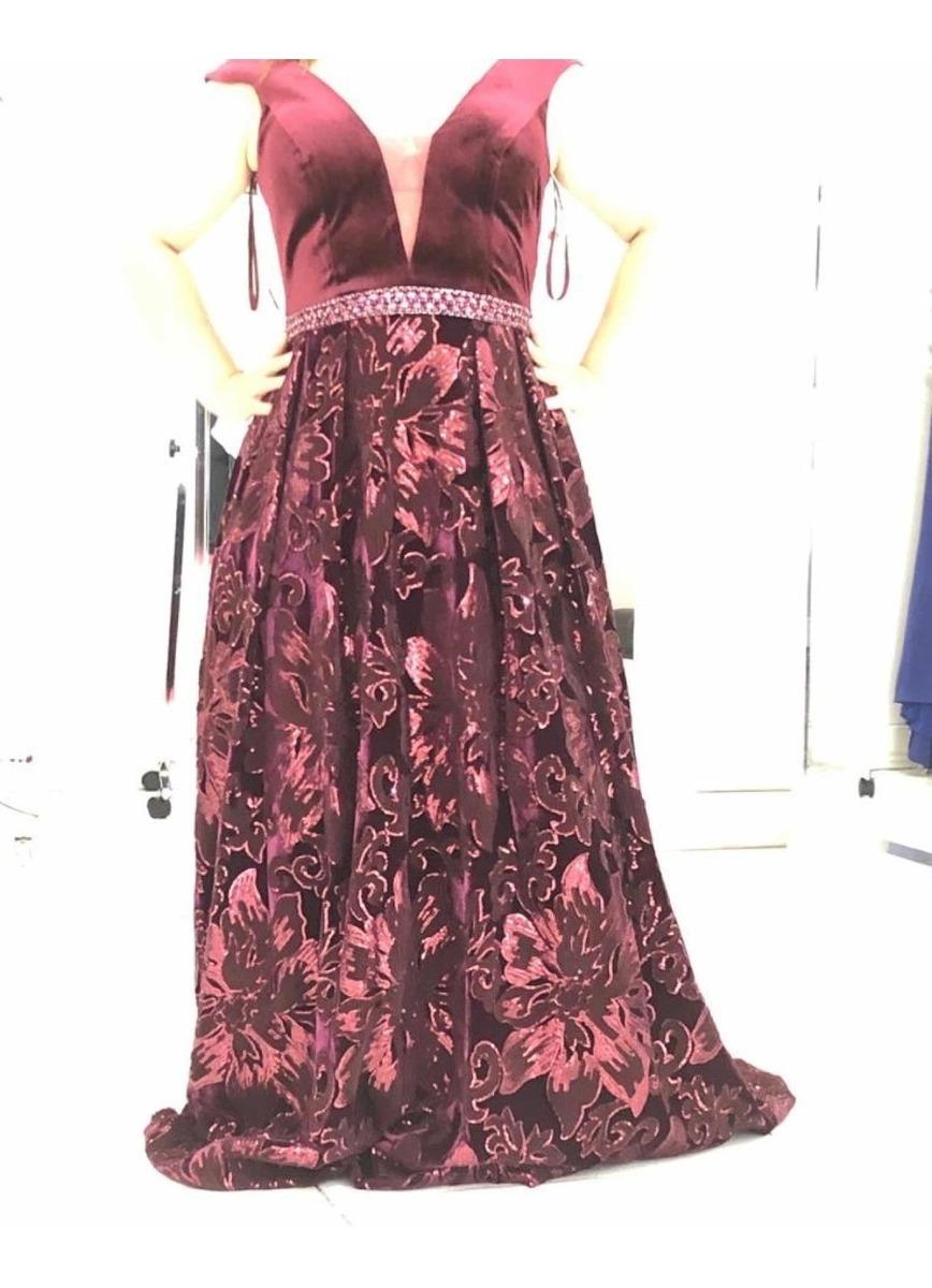 Vestido Dama Largo Vino Etiqueta Rigurosa Boda 11 Grande 200000