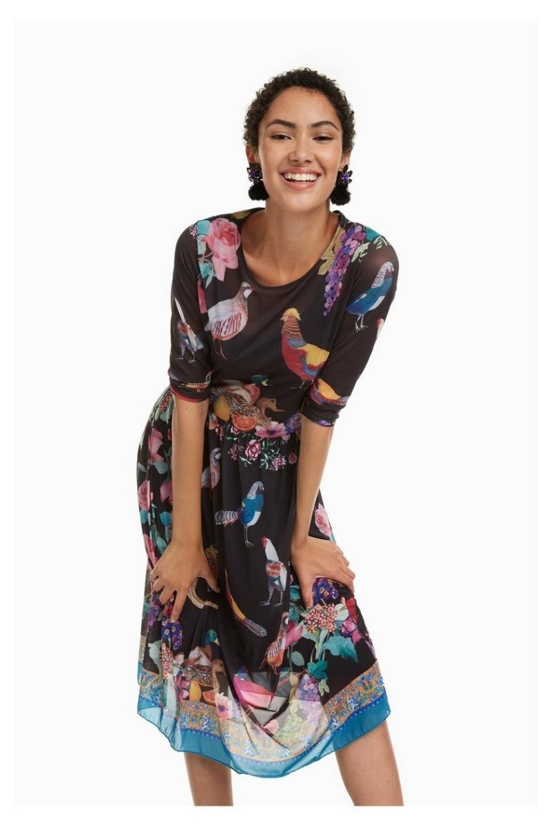 e6903b1619bf5 Cargando Desigual Zoom Multicolor Vestido Dama Textil qxZnzA