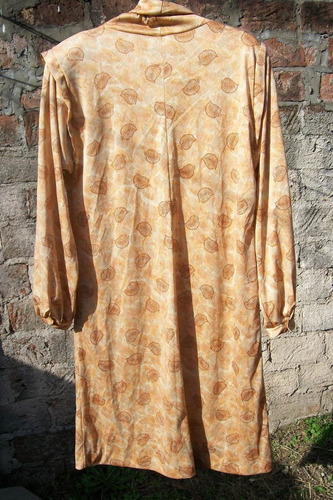 vestido dama usado talle 48 con cuello volcado