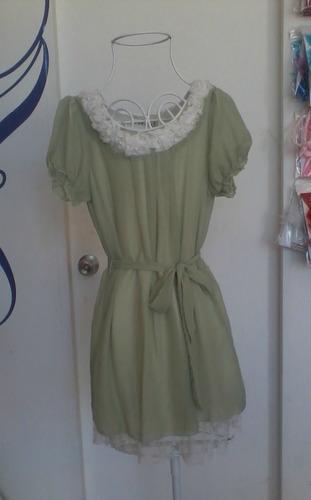 vestido dama verde talla s (chica) nuevo