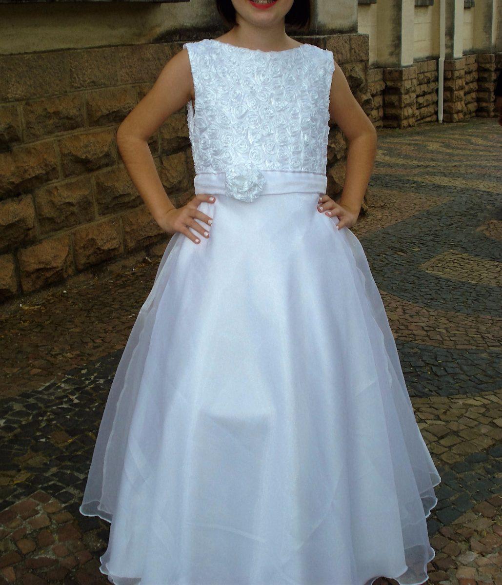 Vestido Daminha Dama Honra Branco