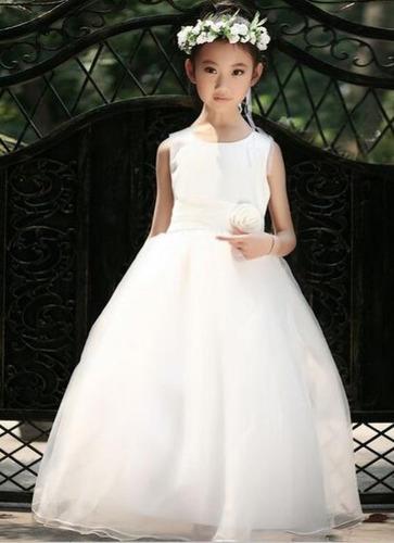 vestido daminha de honra / batizado / longo - pronta entrega