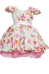 7cf091be659042 Vestido De 1 Ano Tema Jardim Encantado