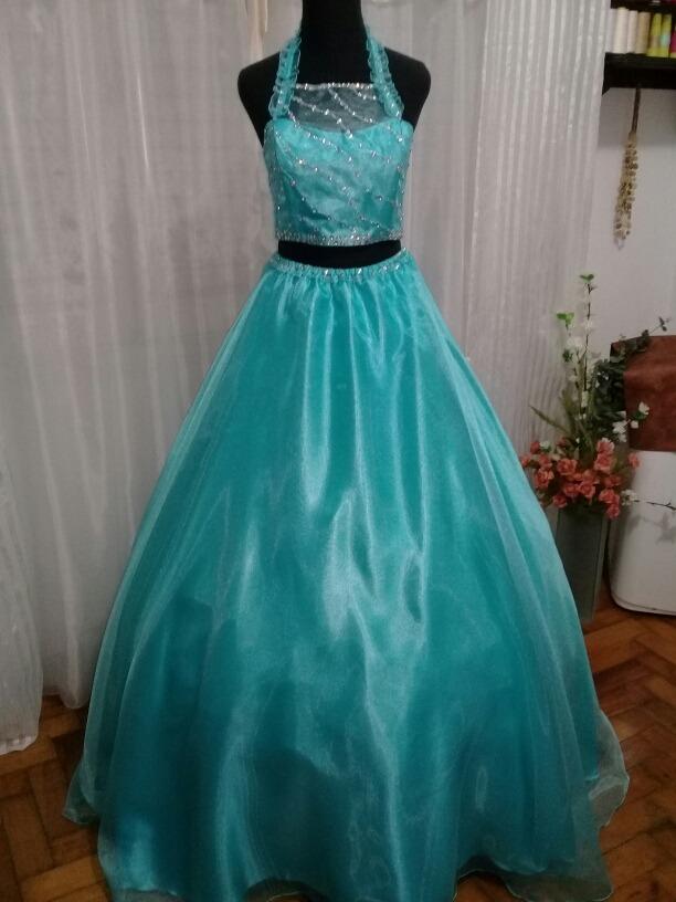 Imagenes de vestidos de 15 azul agua marina