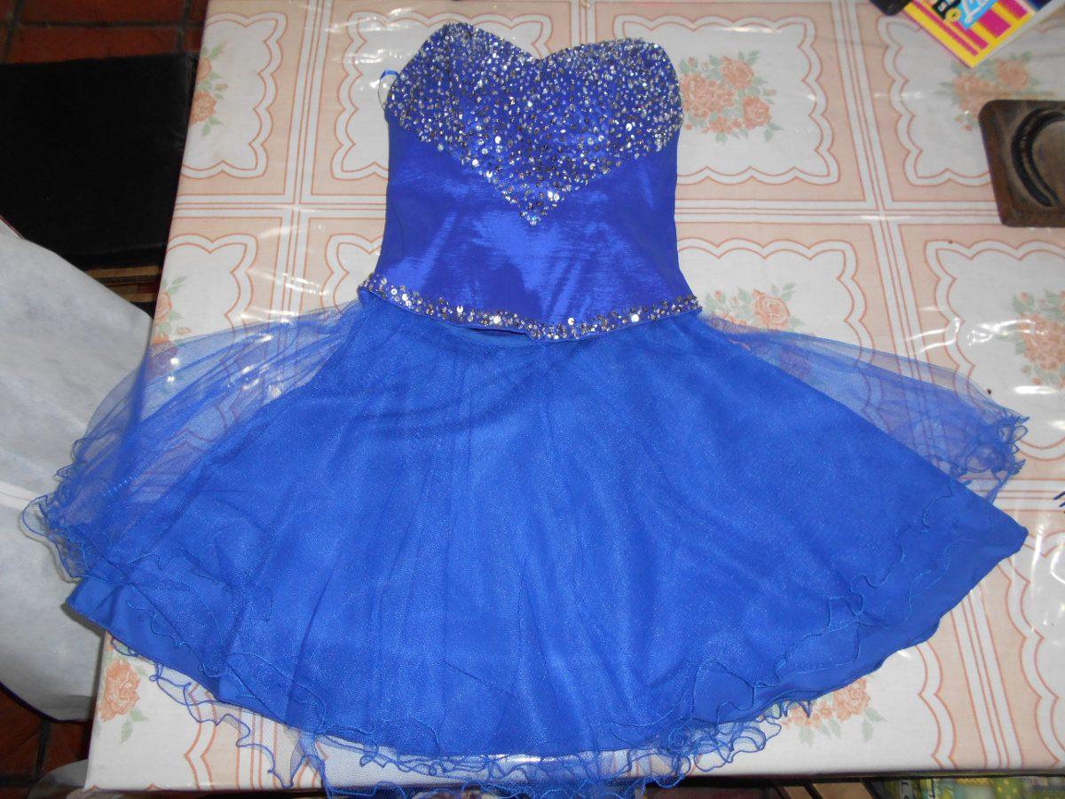 Fotos de vestidos de 15 azul francia