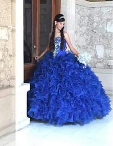 faca34fa0 Vestido Xv Años Azul Rey Con Plateado - Vestidos de Mujer en Mercado ...