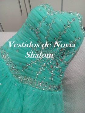 vestido de 15 años con pedrería #5