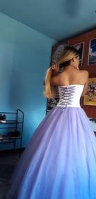 5e4e417a8 Vestido 15 Anos Color Lila Con Corset Blanco Bordado - Vestidos de ...