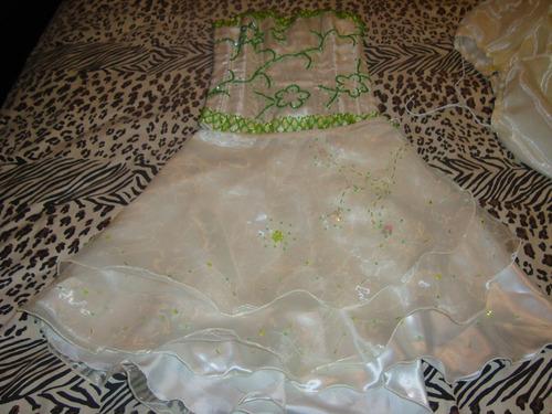 vestido de 15 años de tres pieza, usado