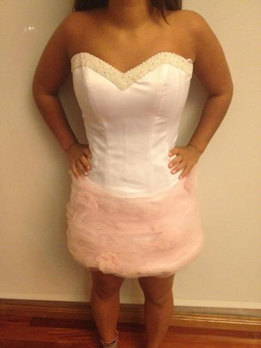 vestido de 15 años, desmontable, 3 partes. hecho a medida.