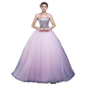 b951cf721 Delicado Vestido De Gasa Fondo 15 Anos Largos - Vestidos en Mercado ...