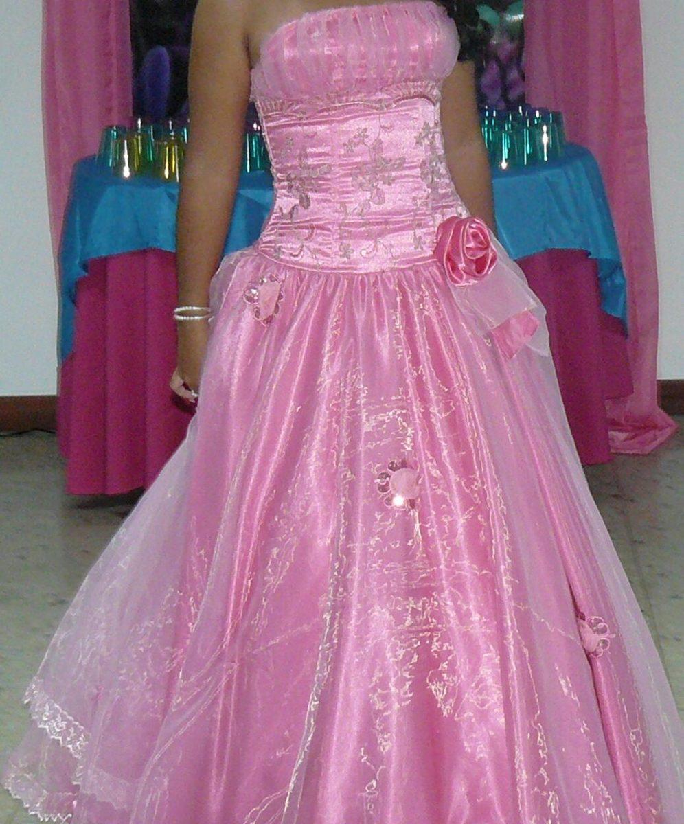 Vestido de 15 a os rosado bs en mercado libre for Ornamentacion de 15 anos