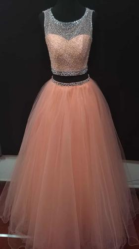 vestido de 15 años salmón kayarall alta costura