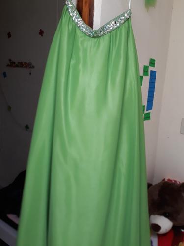 vestido de 15 años verde