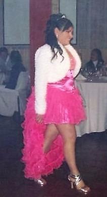 vestido de 15 años,desmontable.