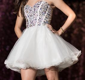 Vestidos de 15 cortos con corset blanco