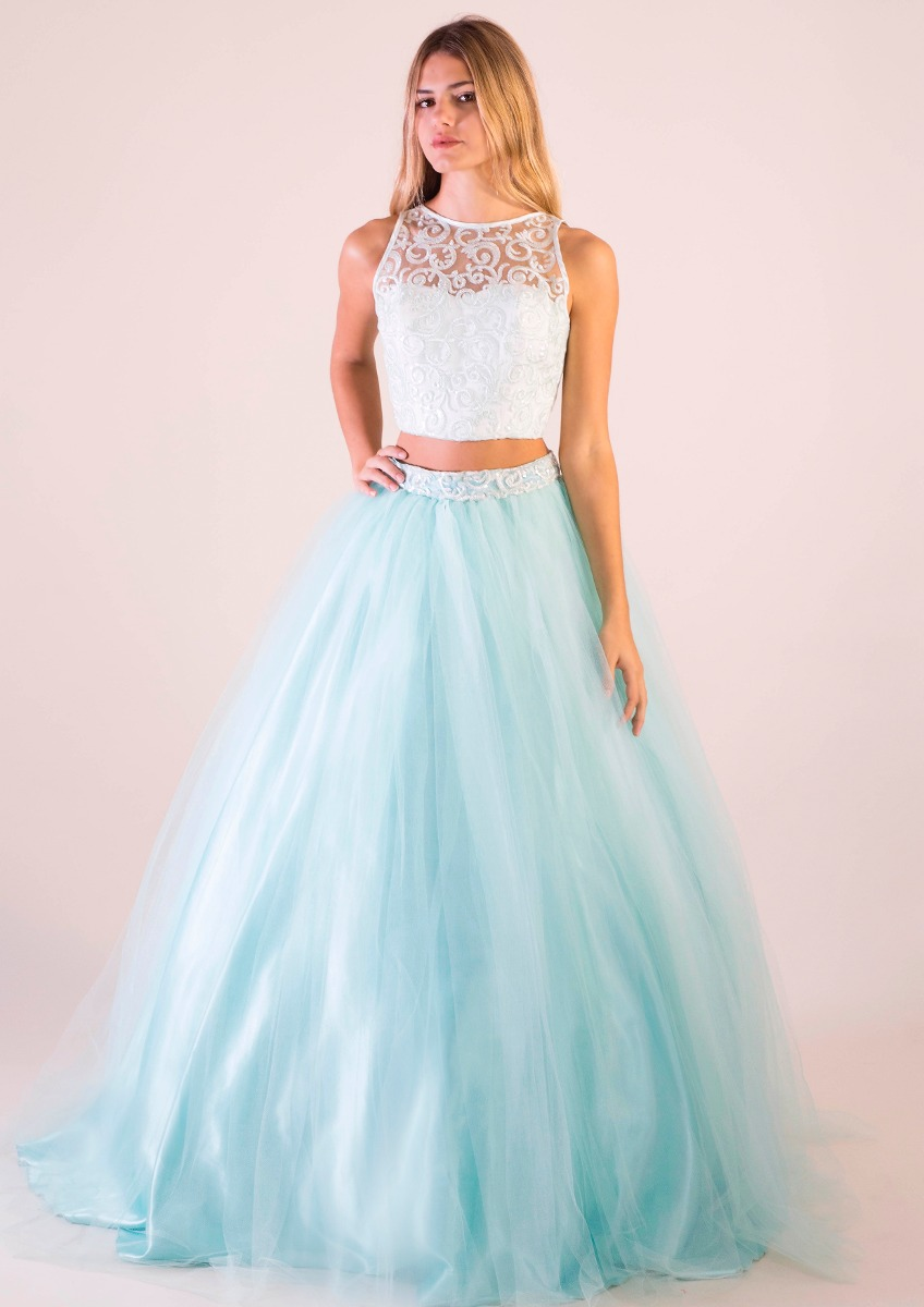 Vestido De 15 Con Top - Modelo Arcoiris - $ 11.695,00 en Mercado Libre