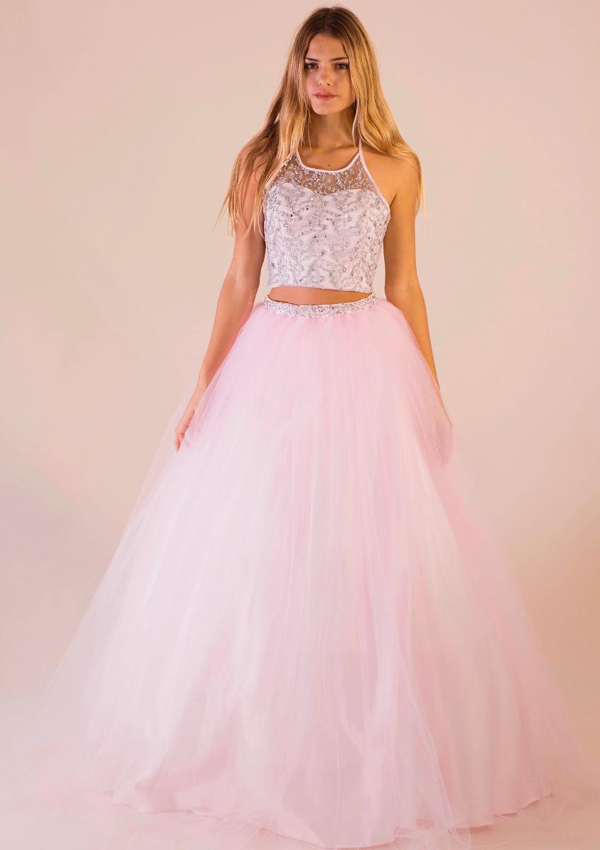 Vestido De 15 Con Top Y 2 Faldas Martina Envio Gratis - $ 12.420,00 ...