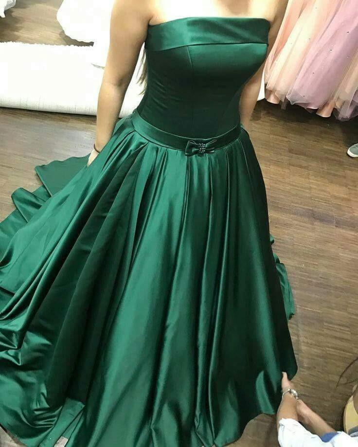 Vestido De 15 / De Novia Strapless Acampanado De Raso - $ 5.800,00 ...