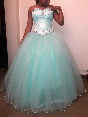 vestido de 15- largo y corto, enagua. hecho a medida