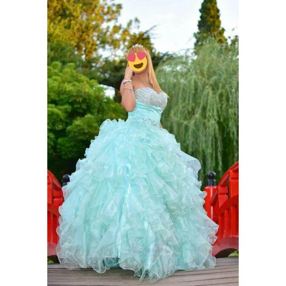 Imagenes de vestidos de 15 verdes