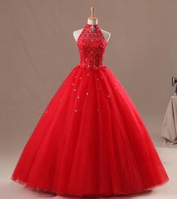 Vestido Xv Anos Color Rojo Vestidos De Mujer De 15 Largo
