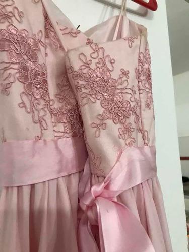 vestido de 15s rosa pastel